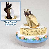 Miniature Pinscher Red & Brown Candle Topper Tiny One Pet Angel Ornament