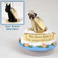 Schnauzer Giant Black Candle Topper Tiny One Pet Angel Ornament