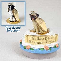 Border Collie Candle Topper Tiny One Pet Angel Ornament