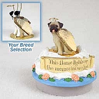 Jack Russell Terrier Black & White w/Rough Coat Candle Topper Tiny One Pet Angel Ornament