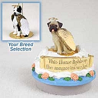 Pit Bull Terrier Brindle Candle Topper Tiny One Pet Angel Ornament