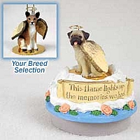 Basenji Candle Topper Tiny One Pet Angel Ornament