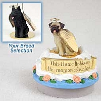 Schipperke Candle Topper Tiny One Pet Angel Ornament