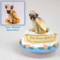 French Bulldog Fawn Candle Topper Tiny One Pet Angel Ornament