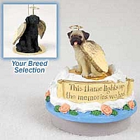 Flat Coated Retriever Candle Topper Tiny One Pet Angel Ornament