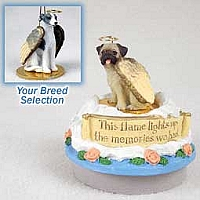 Whippet Gray & White Candle Topper Tiny One Pet Angel Ornament