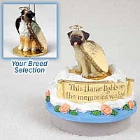 Australian Shepherd Brown w/Docked Tail Candle Topper Tiny One Pet Angel Ornament