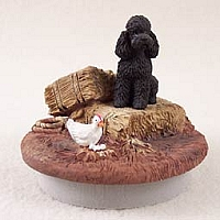 Poodle Black w/Sport Cut Candle Topper Tiny One