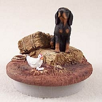 Coonhound Black & Tan Candle Topper Tiny One