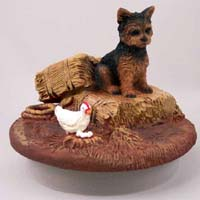 Yorkshire Terrier Puppy Cut Candle Topper Tiny One