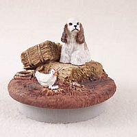 Cocker Spaniel Brown & White Candle Topper Tiny One