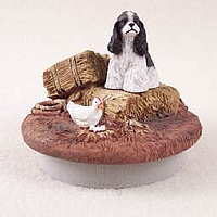 Cocker Spaniel Black & White Candle Topper Tiny One