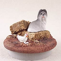 Shih Tzu Gray Candle Topper Tiny One