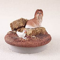 Shih Tzu Tan Candle Topper Tiny One