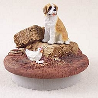 Saint Bernard w/Rough Coat Candle Topper Tiny One