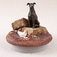 Greyhound Brindle Candle Topper Tiny One