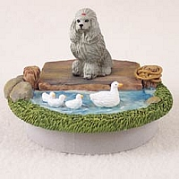 Poodle Gray Candle Topper Tiny One