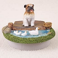 Bulldog Candle Topper Tiny One