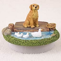 Golden Retriever Candle Topper Tiny One
