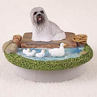 Lhasa Apso Gray Candle Topper Tiny One