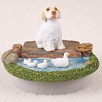 Clumber Spaniel Candle Topper Tiny One