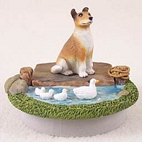 Collie Smoth Hair Candle Topper Tiny One