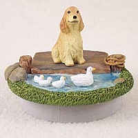 Cocker Spaniel English Blonde Candle Topper Tiny One