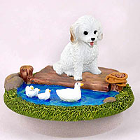 Cockapoo White Candle Topper Tiny One