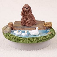 Cocker Spaniel Brown Candle Topper Tiny One