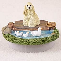 Cocker Spaniel Blonde Candle Topper Tiny One