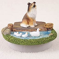 Collie Sable Candle Topper Tiny One