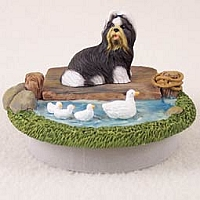 Shih Tzu Black & White Candle Topper Tiny One