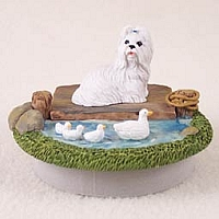 Shih Tzu White Candle Topper Tiny One