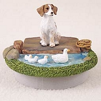 Brittany Brown & White Spaniel Candle Topper Tiny One