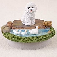 Bichon Frise Candle Topper Tiny One