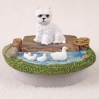 West Highland Terrier Candle Topper Tiny One