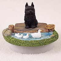 Brussels Griffon Black Candle Topper Tiny One