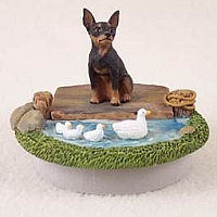 Miniature Pinscher Tan & Black Candle Topper Tiny One