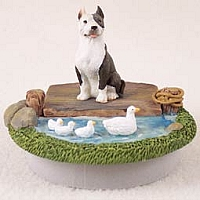 Pit Bull Terrier Brindle Candle Topper Tiny One