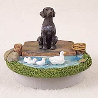 German Short Haired Pointer Candle Topper Tiny One