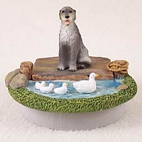 Irish Wolfhound Candle Topper Tiny One