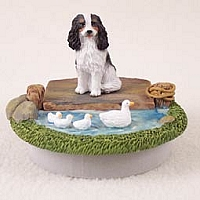 Cavalier King Charles Spaniel Black & White Candle Topper Tiny One
