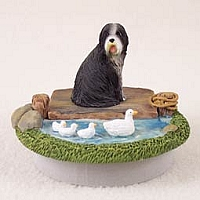 Bearded Collie Candle Topper Tiny One