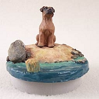 Boxer Tawny w/Uncropped Ears Candle Topper Tiny One