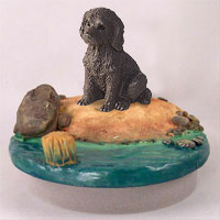 Labradoodle Chocolate Candle Topper Tiny One