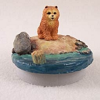 Chow Red Candle Topper Tiny One