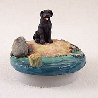 Labrador Retriever Black Candle Topper Tiny One