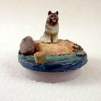 Keeshond Candle Topper Tiny One