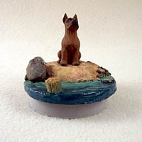 Boxer Tawny Candle Topper Tiny One