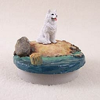 Samoyed Candle Topper Tiny One